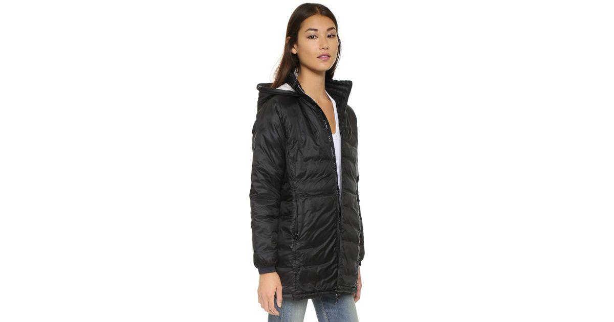 Canada Goose victoria parka outlet store - Canada goose Camp Hooded Jacket - Silverbirch in Black | Lyst