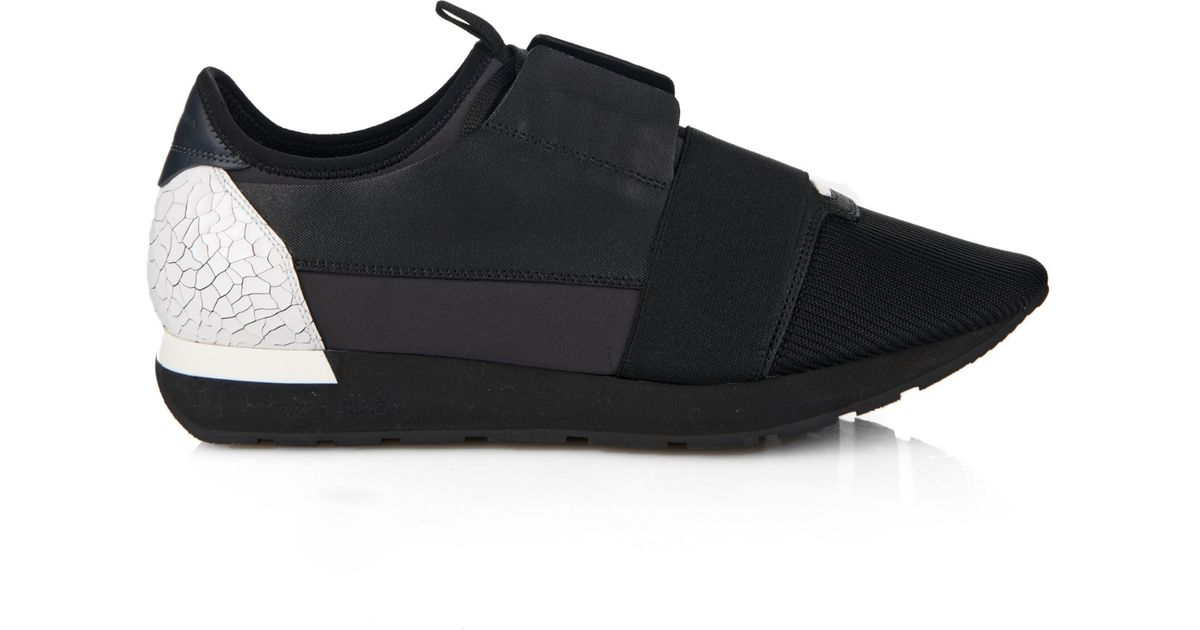 93cc3cee8748 Balenciaga Leather Low-Top Trainers in Black for Men - Lyst