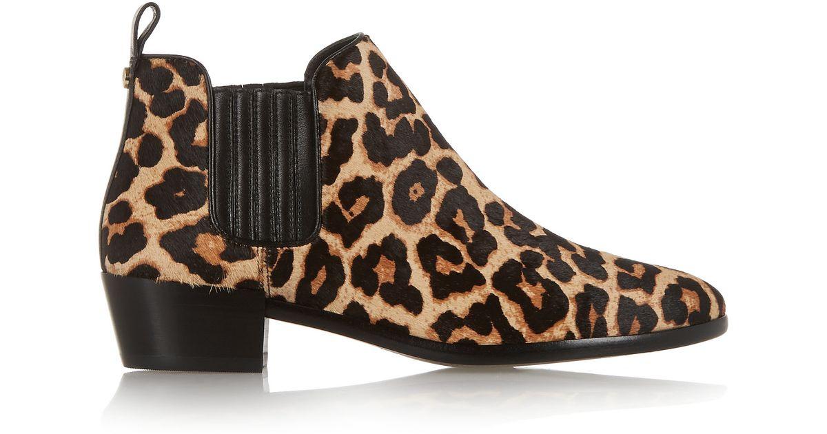 5b793f1ea85 MICHAEL Michael Kors Shaw Leopard-print Calf Hair Ankle Boots - Lyst
