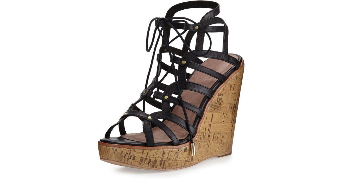c341eee3e4a Lyst - Joie Larissa Gladiator Wedge Sandal in Black