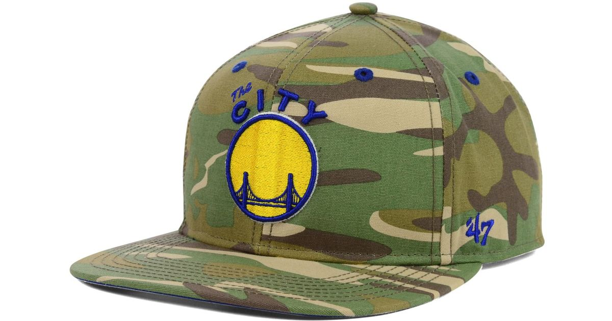 huge discount e1bba 096b8 47 Brand Golden State Warriors Nba Hwc Woodrow Snapback Cap in Green for  Men - Lyst