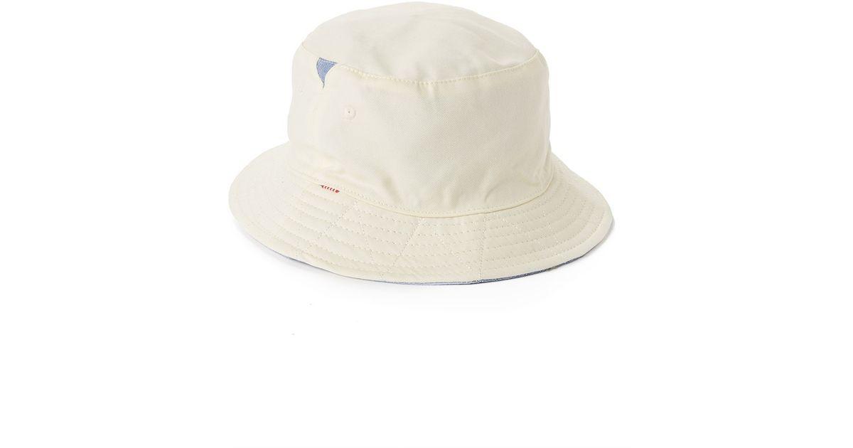 Lyst - Herschel Supply Co. Lake Reversible Bucket Hat - White in Blue for  Men ca45fa94d557