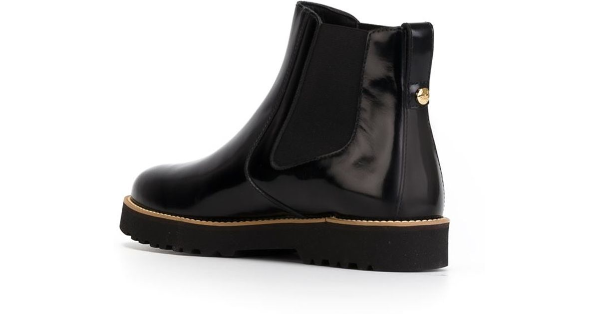 Hogan Rubber Sole Chelsea Boots In Black Lyst