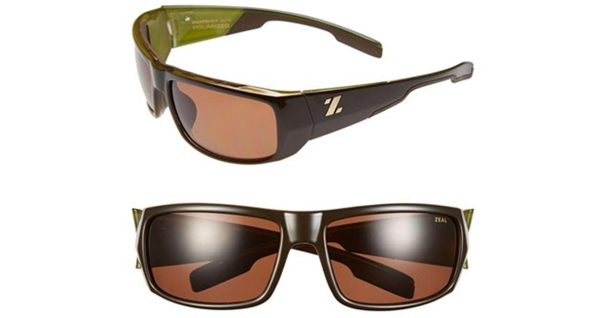 859ee139cb Lyst - Zeal Optics  snapshot  65mm Polarized Sunglasses in Green