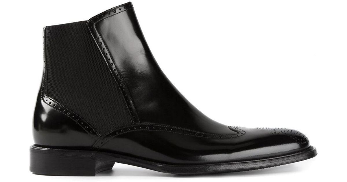 Dolce & Gabbana Brogue Chelsea boots mOcs01T