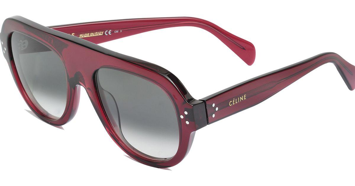 81f3a34f86a Lyst - Céline Sunglasses Cl 41042 s in Purple