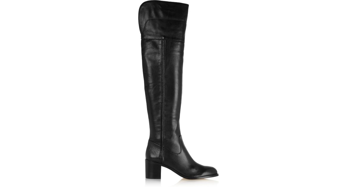720f7443763 Sam Edelman Joplin Leather Over-the-knee Boots in Black - Lyst