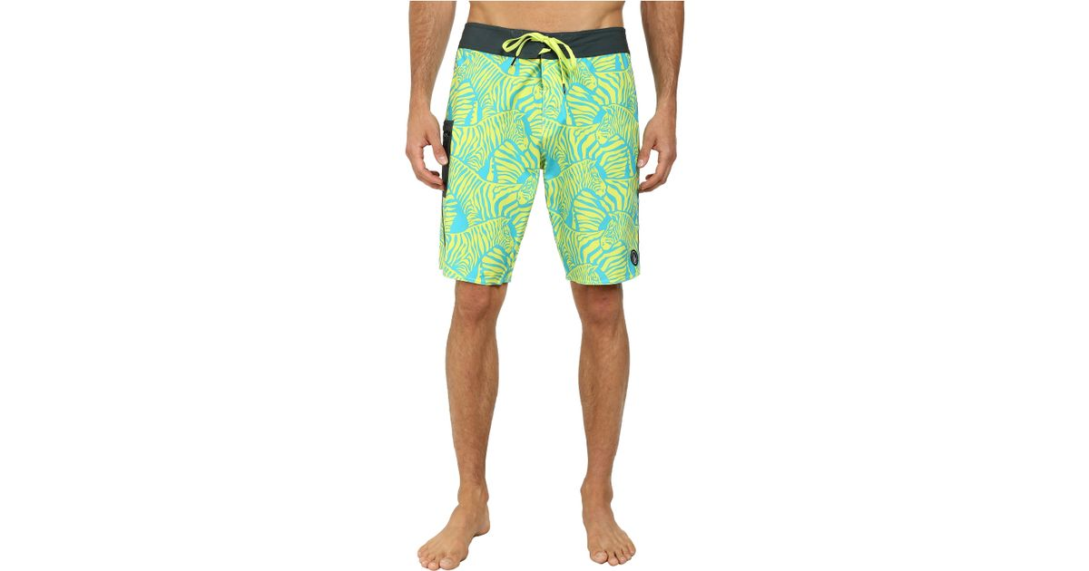330a97adc9 Volcom Zee Brah Boardshort in Yellow for Men - Lyst