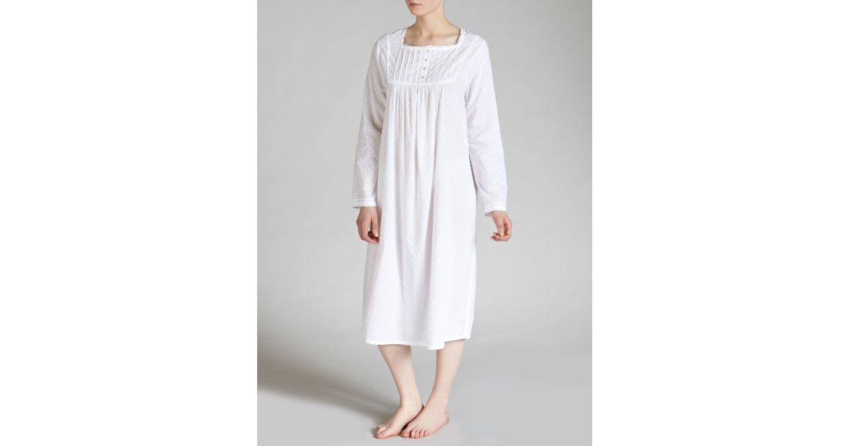 3fd7a7897d John Lewis Long Cotton Nightdress in Black - Lyst