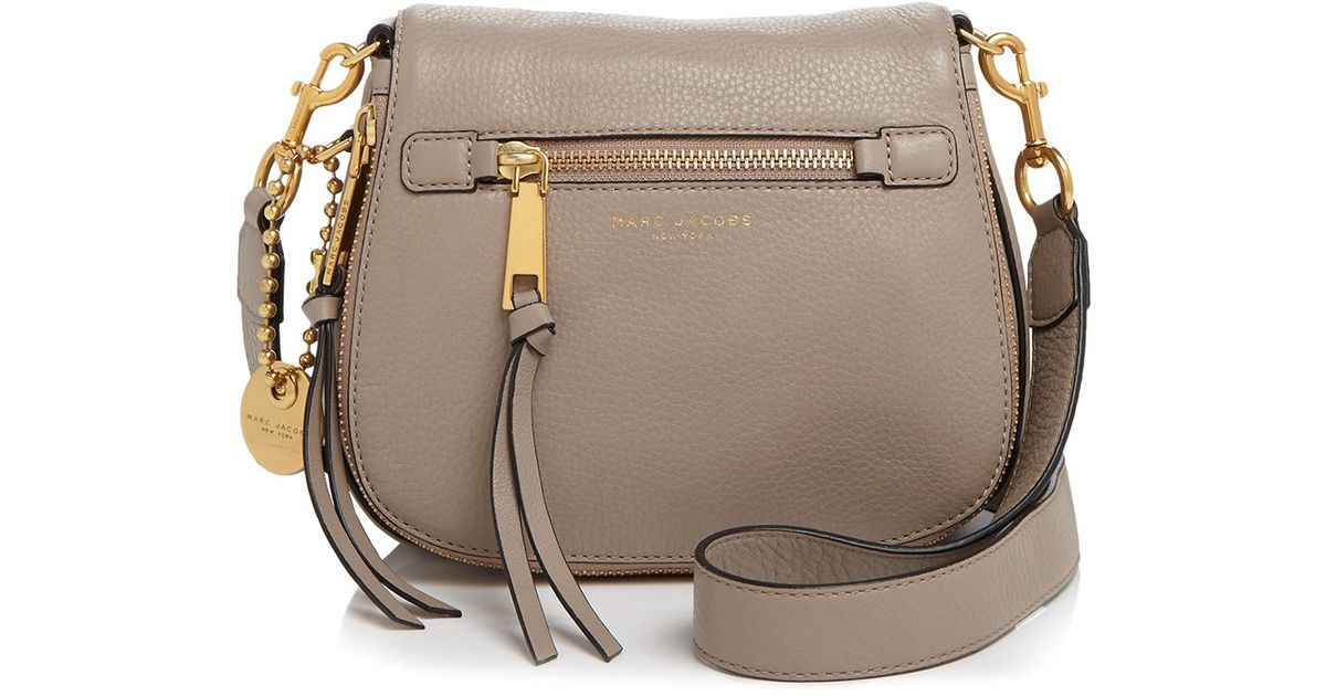 6966c84da Marc Jacobs Recruit Small Saddle Bag in Black - Lyst