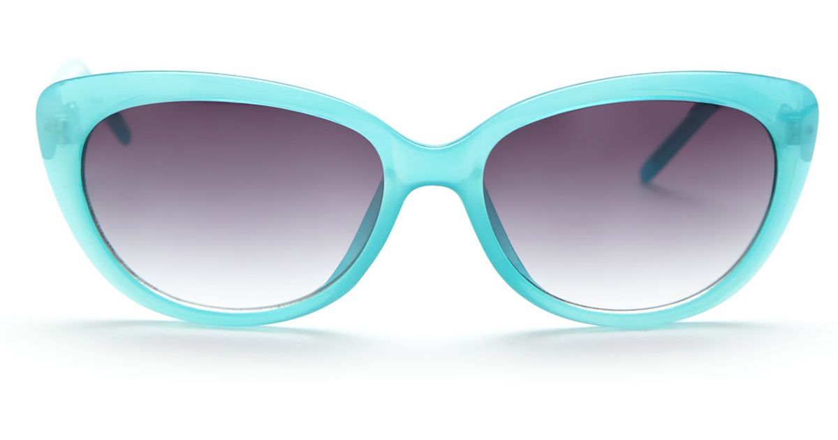 a15c0a05498 Lyst - Vince Camuto Vc120Blt Turquoise Cat Eye Sunglasses in Blue