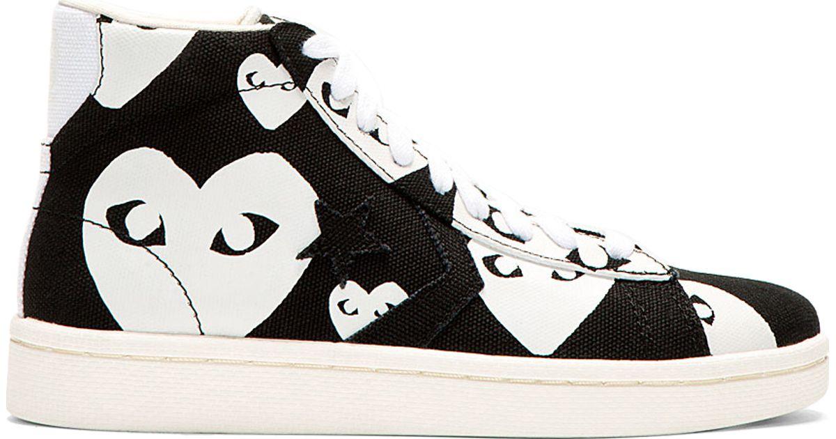 5507d4e82b27 Lyst - Play Comme des Garçons Black Heart Print Converse Cons Edition  High top Sneakers in Black