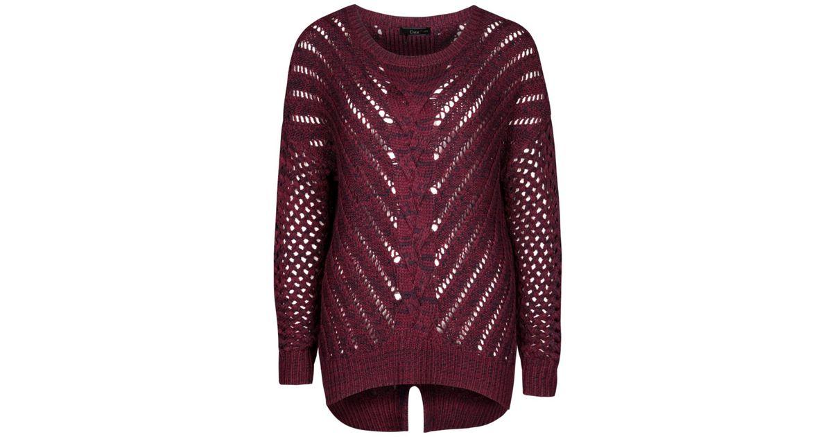 Lyst - Dex Open Knit Sweater in Purple b2d61276d