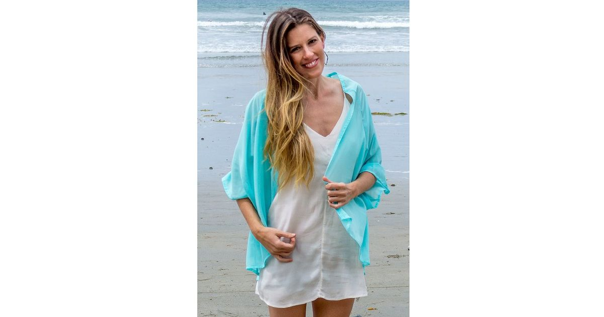 Elizabeth koh Light Blue Kimono Cardigan in Blue | Lyst