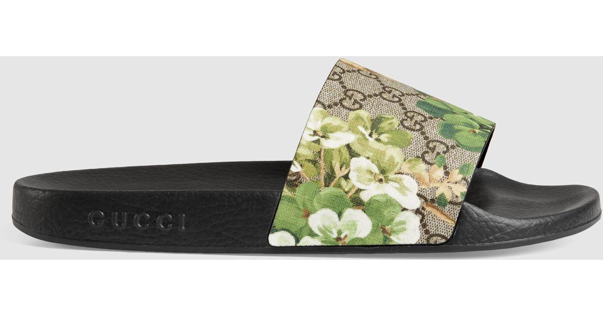 a9573bc7f4f8 Lyst - Gucci Blooms Print Sandal