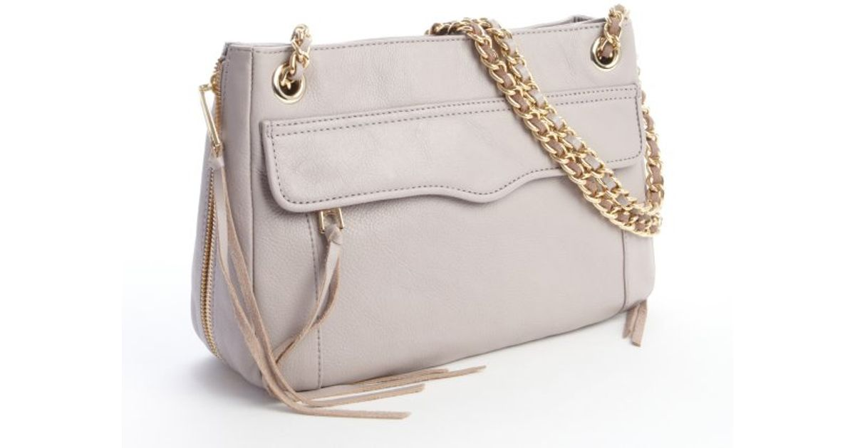 Lyst Rebecca Minkoff Tortora Leather Swing Chain Strap Crossbody Bag In Pink