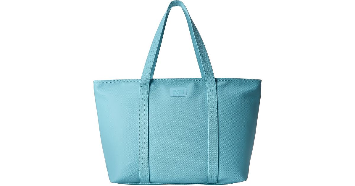 f1642f219f64 Lyst - Lacoste Classic Large Shopping Bag in Blue