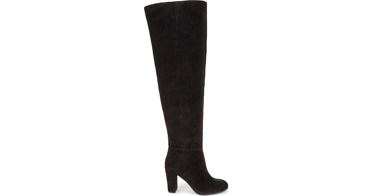 b7ff7769b2d Lyst - Nine West Snowfall Suede Over-the-knee Boots in Black