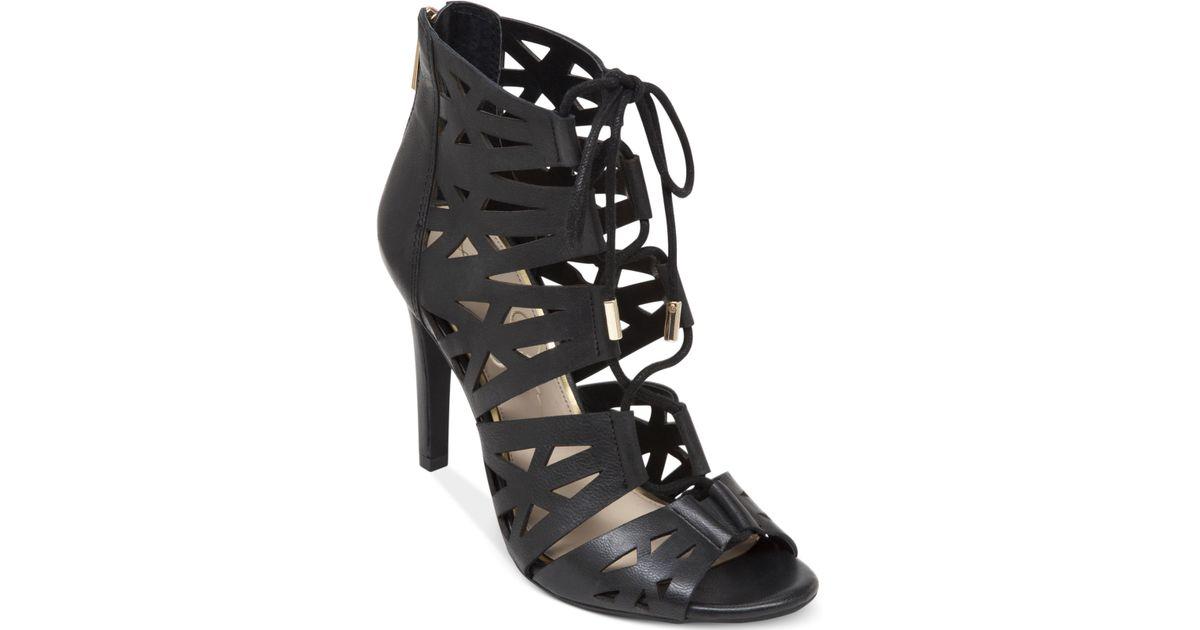 7a21881a326 Lyst - Jessica Simpson Emerita Gladiator Dress Sandals in Black