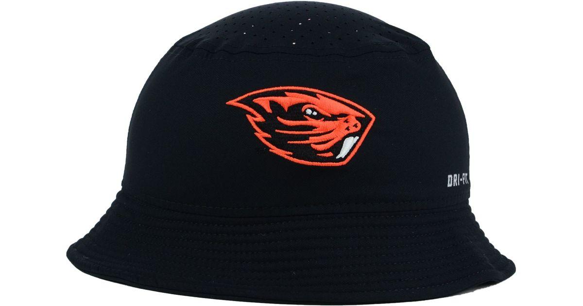 online store 3a6e4 6a76b Nike Oregon State Beavers Vapor Bucket Hat in Black for Men - Lyst