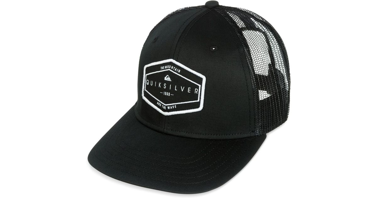 df947bd8456f8 ... netherlands lyst quiksilver forever hat in black for men 13aa9 32818