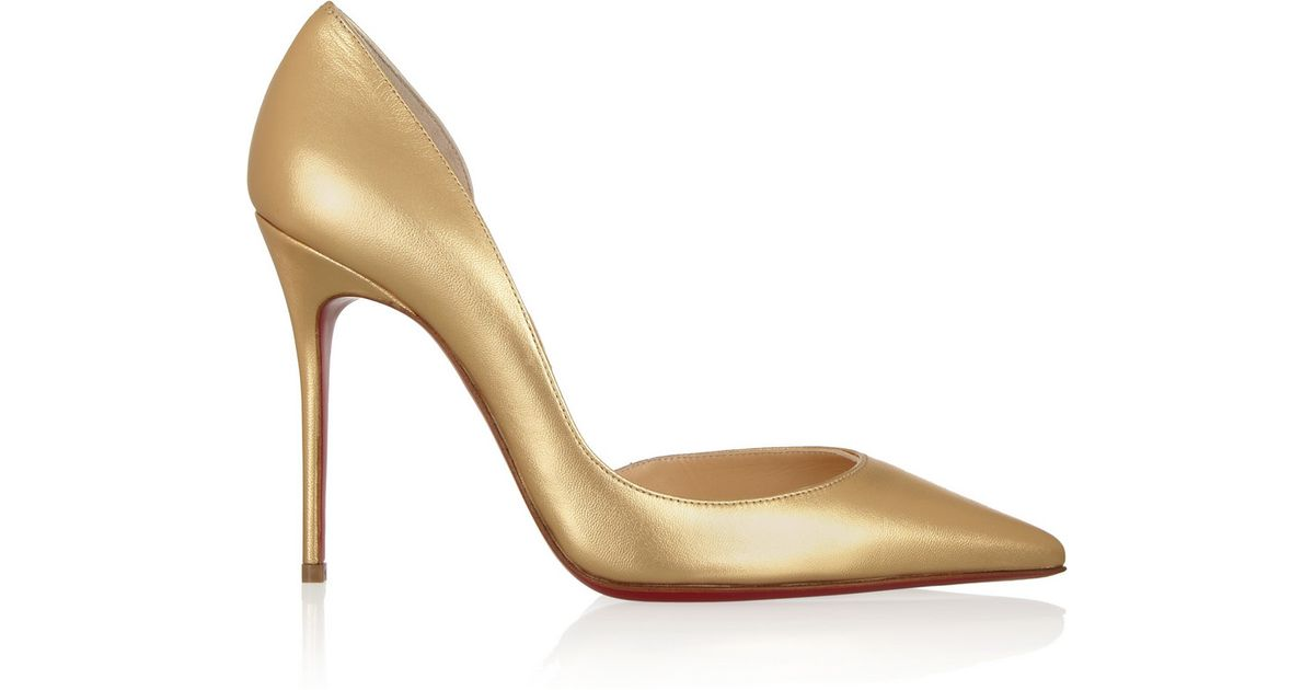 80d8f557af3 Christian Louboutin - Iriza 100 Metallic Leather Pumps - Lyst