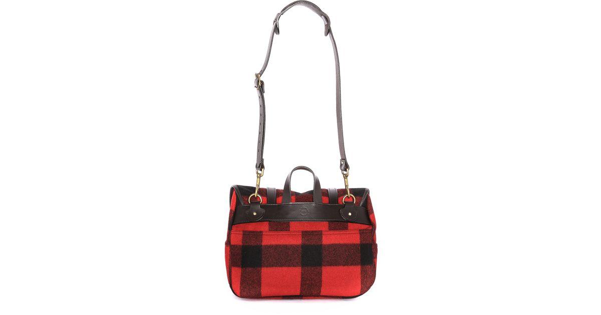 fbf3537abb Lyst - Filson Wool Medium Field Bag in Red for Men