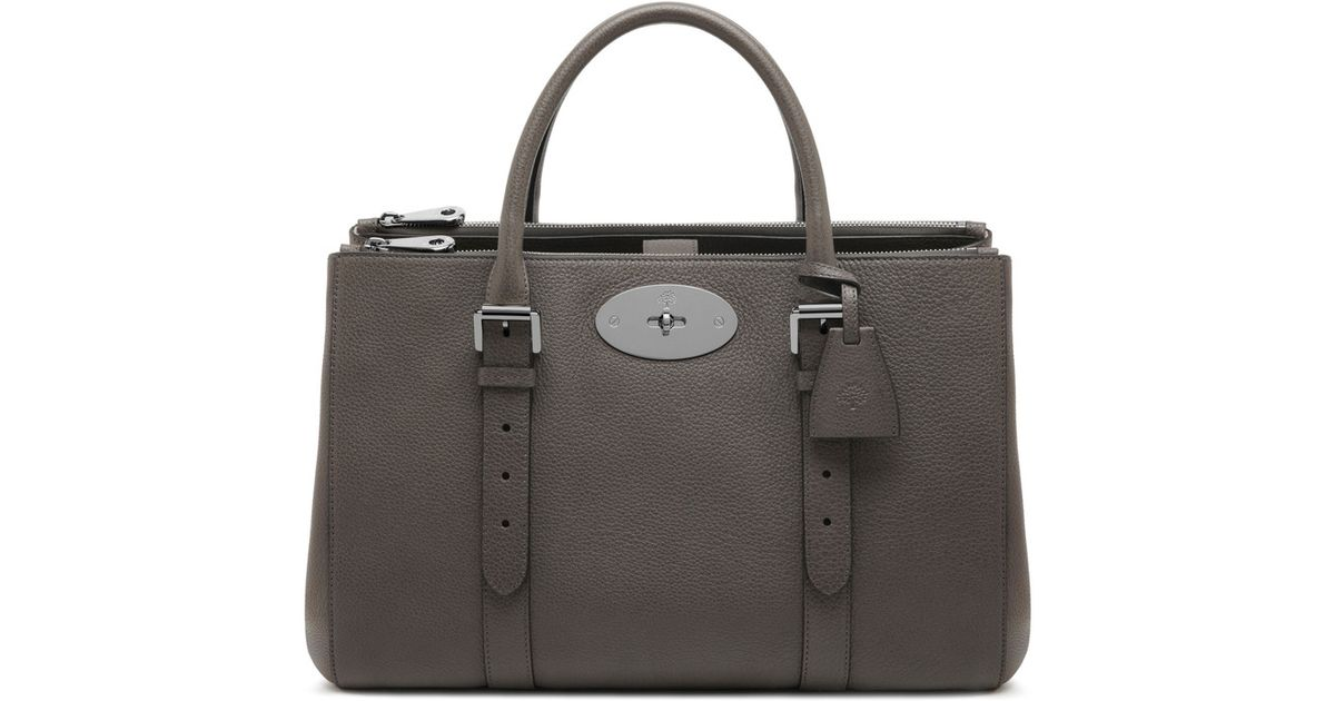 Lyst - Mulberry Bayswater Double Zip Tote in Gray 7336cf27d9714