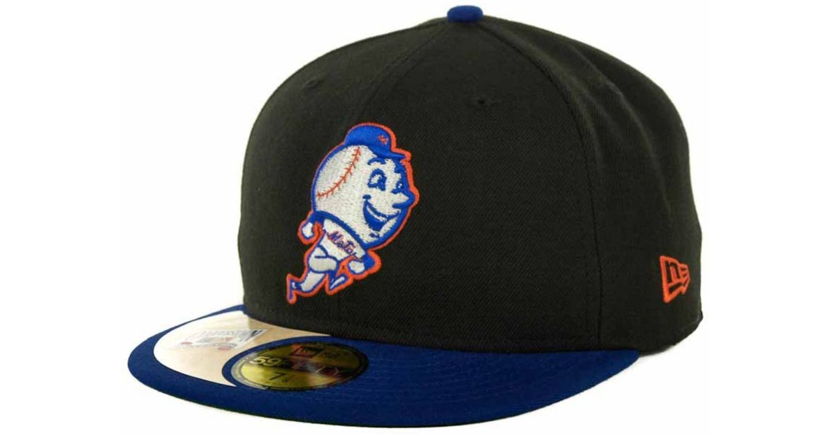 timeless design b2a50 1e3ed ... discount lyst ktz new york mets cooperstown patch 59fifty cap in black  for men f0348 fdc30 ...