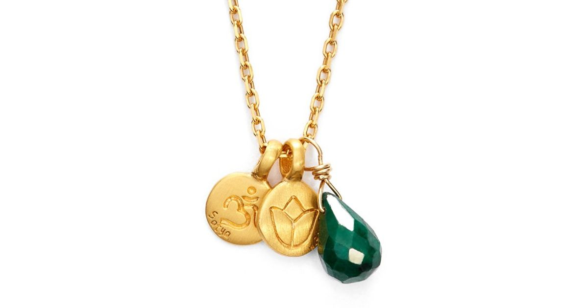 Lyst satya jewelry cluster pendant necklace in green aloadofball Images