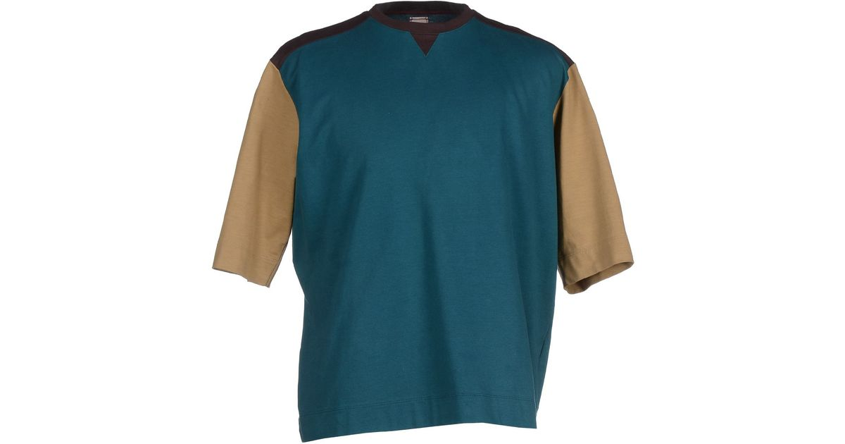 Antonio marras t shirt in green for men emerald green lyst Emerald green mens dress shirt