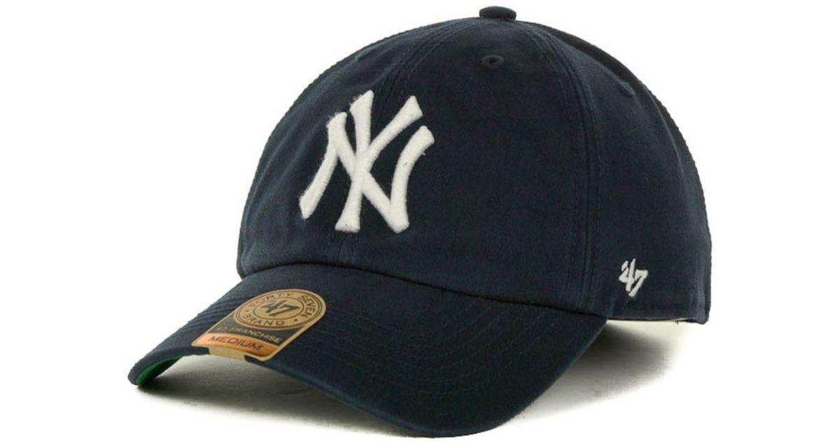 e285e56d2e0e1 uk 47 brand new york yankees mlb 47 franchise cap in blue for men lyst fcfe1