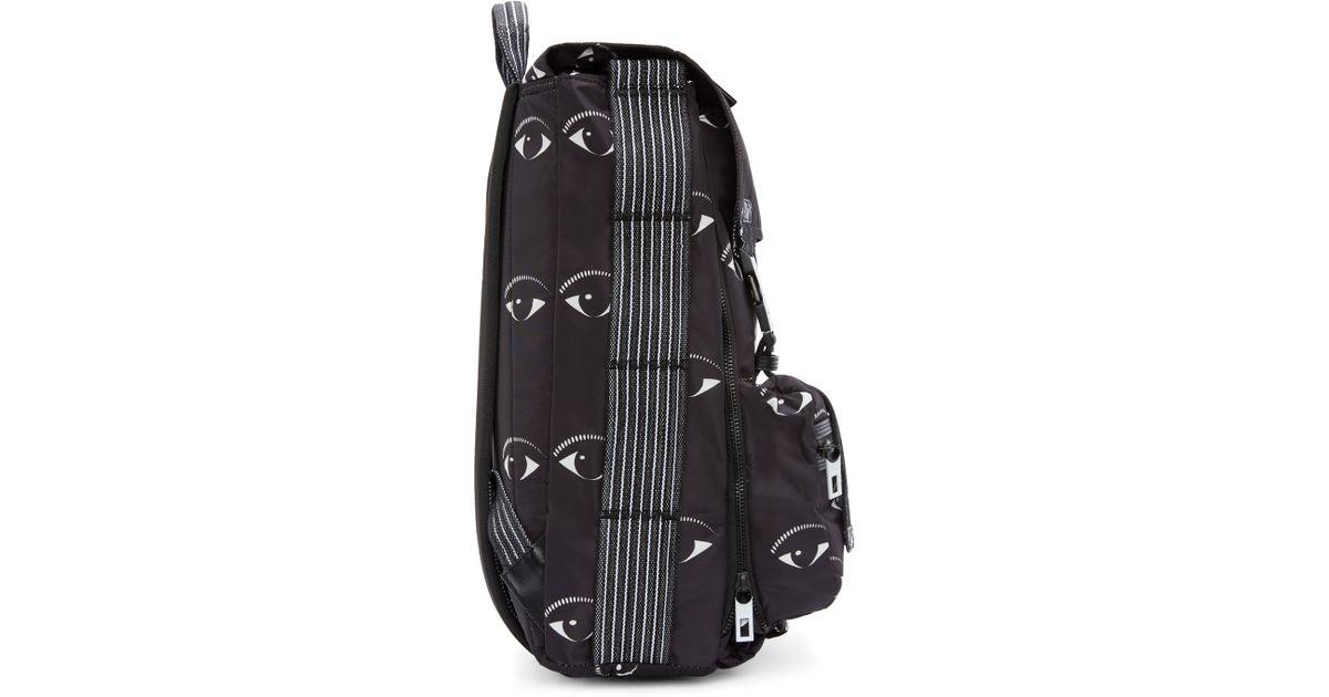 519bf024f KENZO Black Eye Print Urban Backpack in Black for Men - Lyst