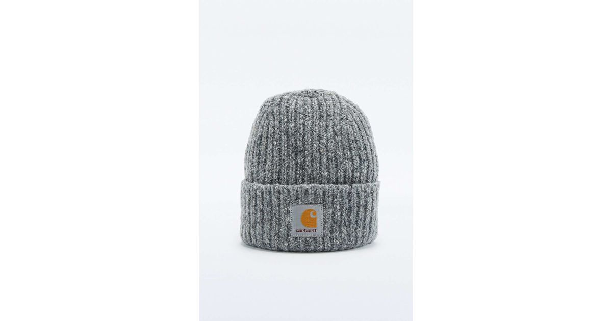 d064350a954 Carhartt Anglistic Charcoal Beanie in Gray for Men - Lyst