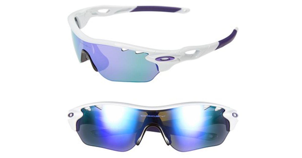 82465b0db Oakley Purple 'radarlock' Edge' 155mm Sunglasses - Polished White/ Violet
