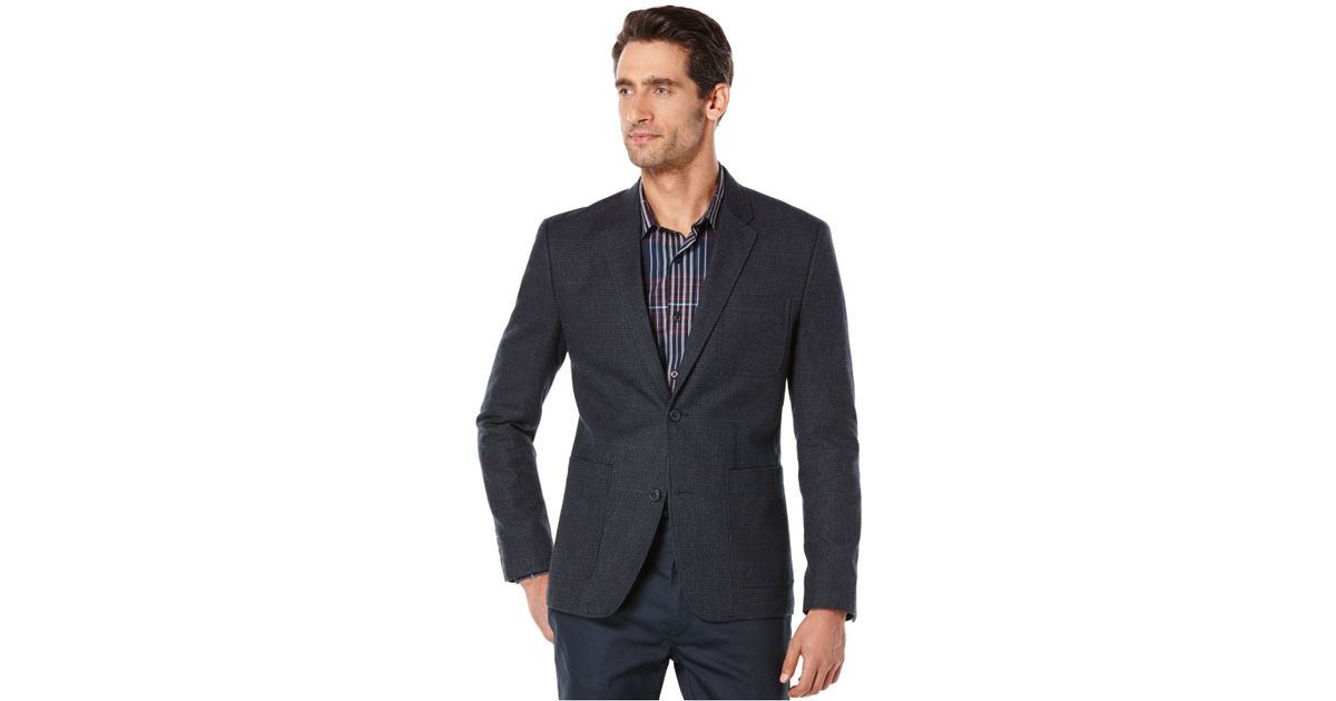 ca77f8e8e8 Lyst - Perry Ellis Brushed Heather Windowpane Plaid Sport Coat in Gray for  Men