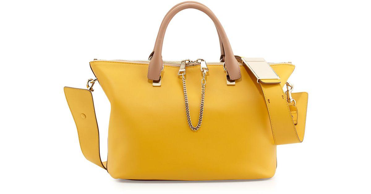 Chlo¨¦ Baylee Shoulder Bag in Beige (BEIGE/YELLOW) | Lyst