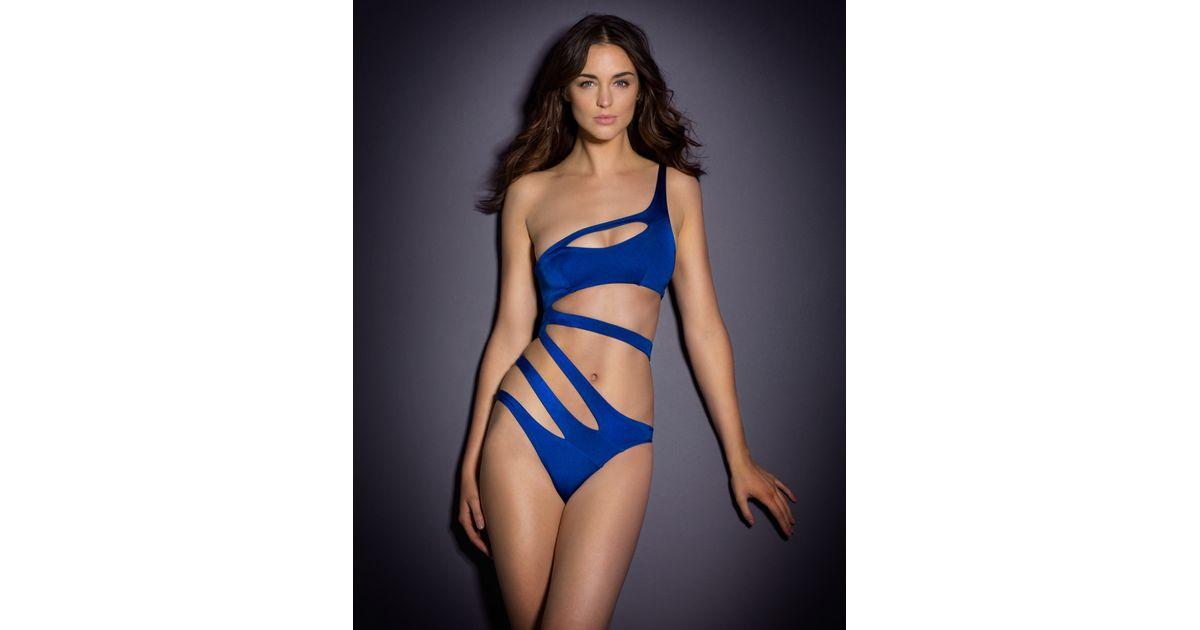 ca725b7424 Lyst - Agent Provocateur Lexxi Swimsuit Blue in Blue