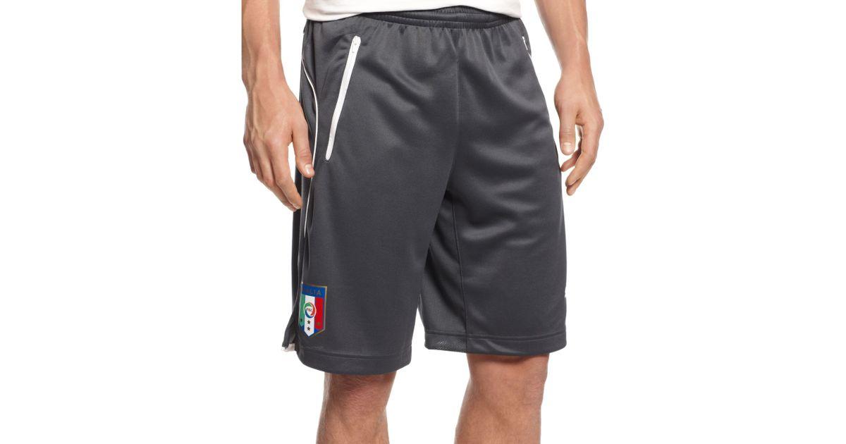Lyst - PUMA Figc Italia Coach Shorts in Black for Men 58cedfc1f5d83