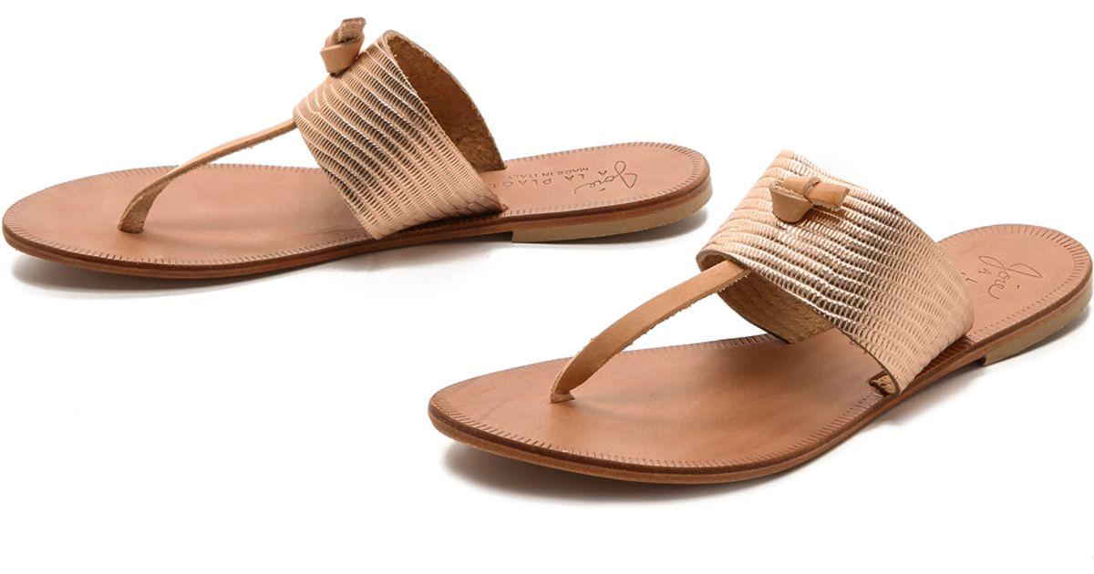 8cb0c161e52464 Lyst - Joie A La Plage Nice Metallic Thong Sandals - Platinum in Metallic