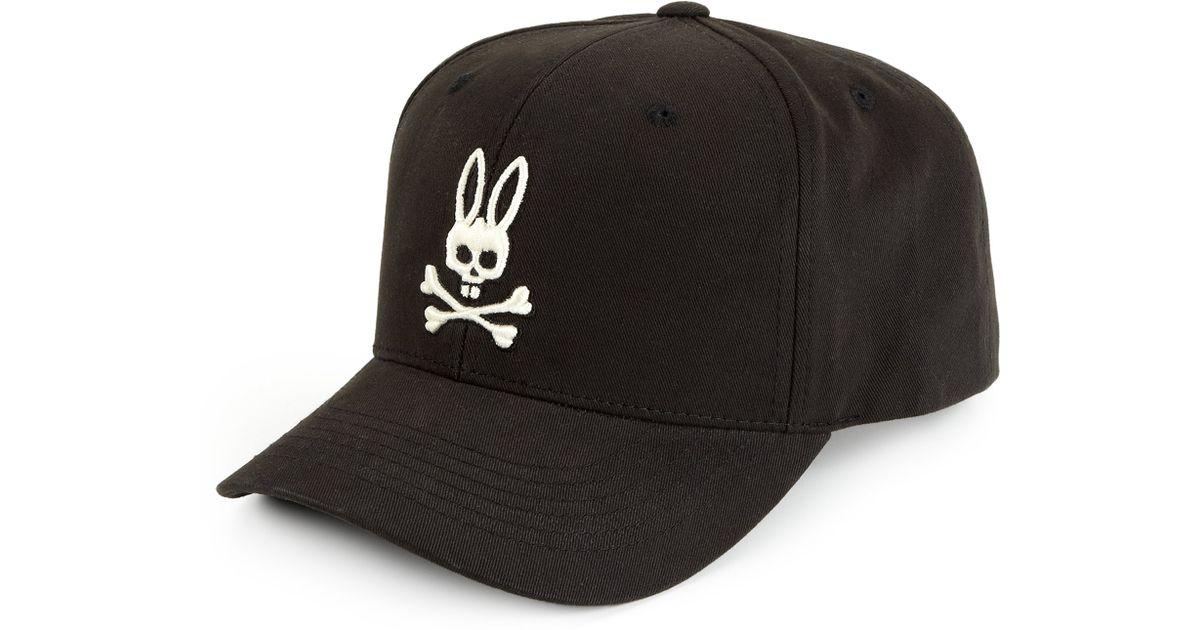 Lyst - Psycho Bunny Grande Bunny Ball Cap in Black for Men 1cc58307d9e