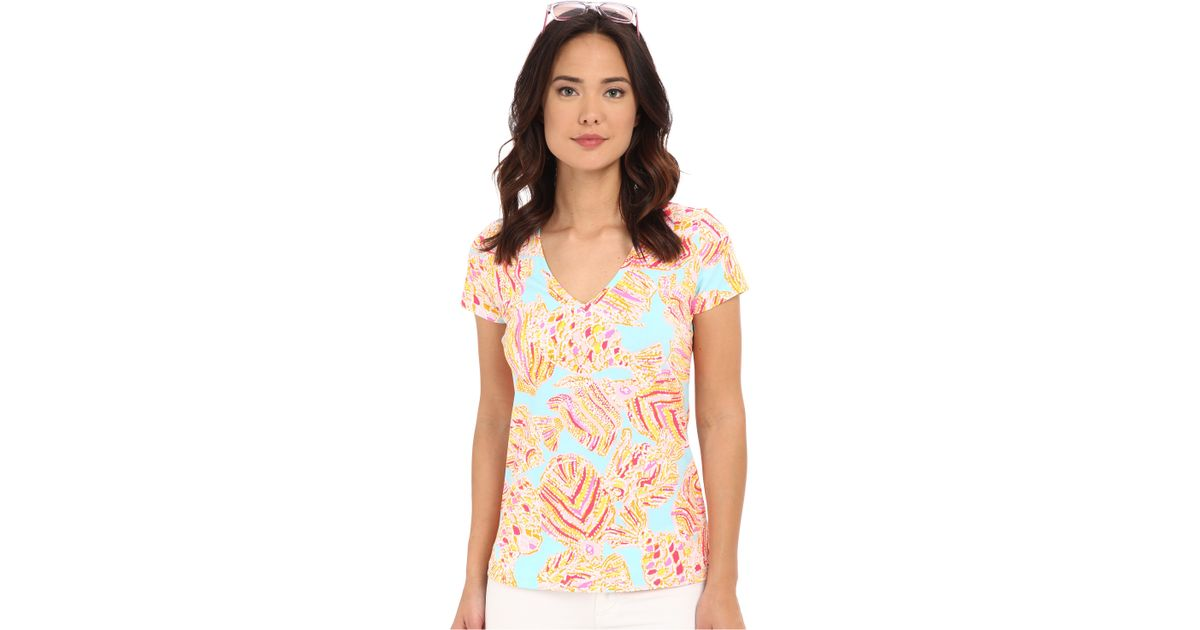 f54765a7236bd Lyst - Lilly Pulitzer Michele Top in Blue