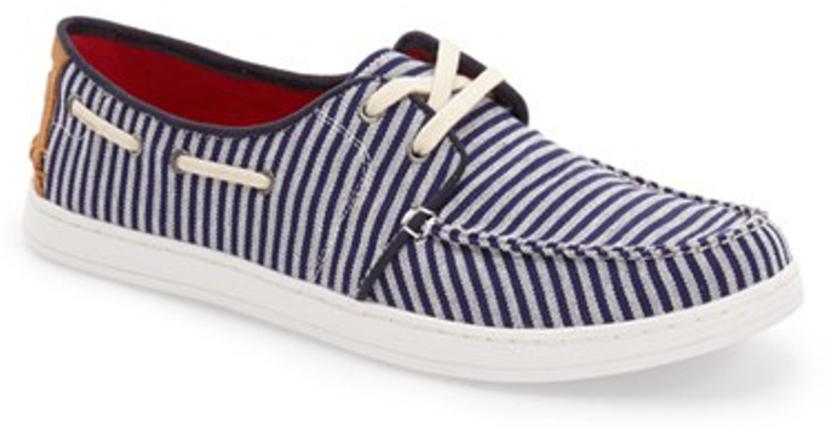 toms culver boat shoe in blue for lyst
