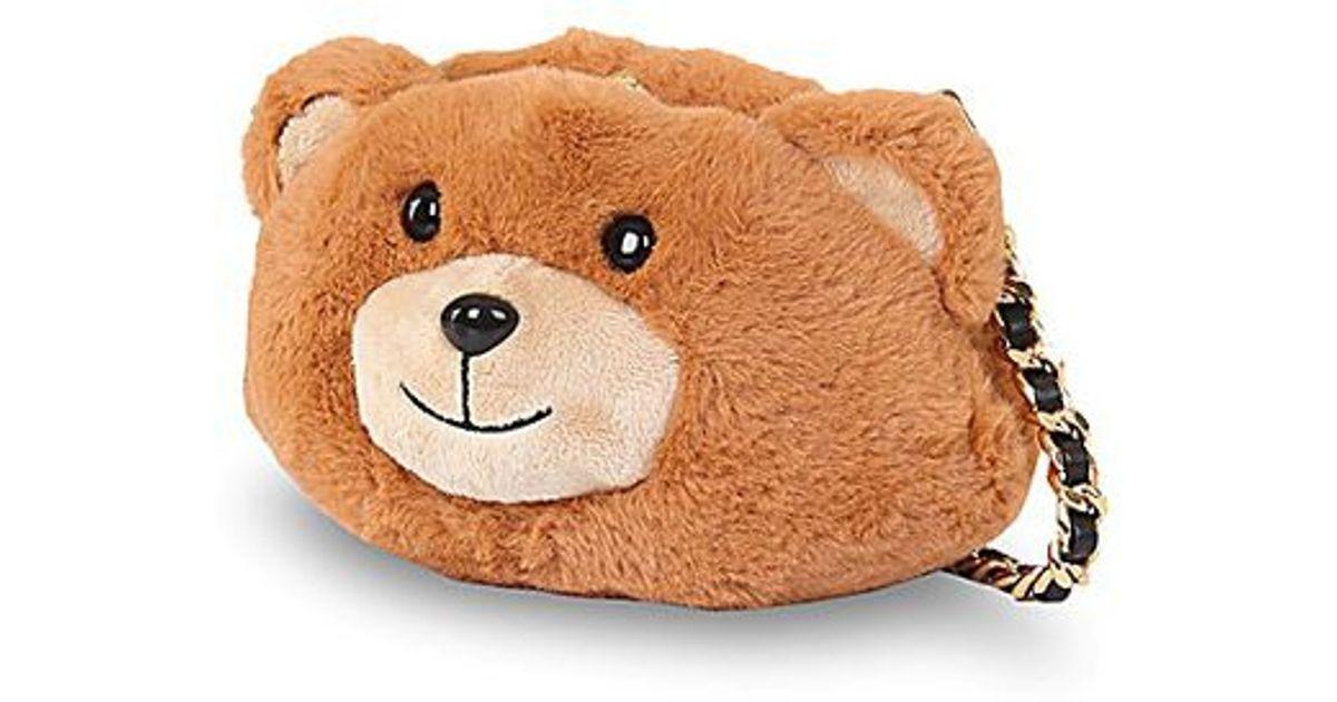ce3dc7a9d3dd Lyst Moschino Bear Shaped Faux Fur Shoulder Bag In Brown. Teddy Bear Purse  Best Image Ccdbb