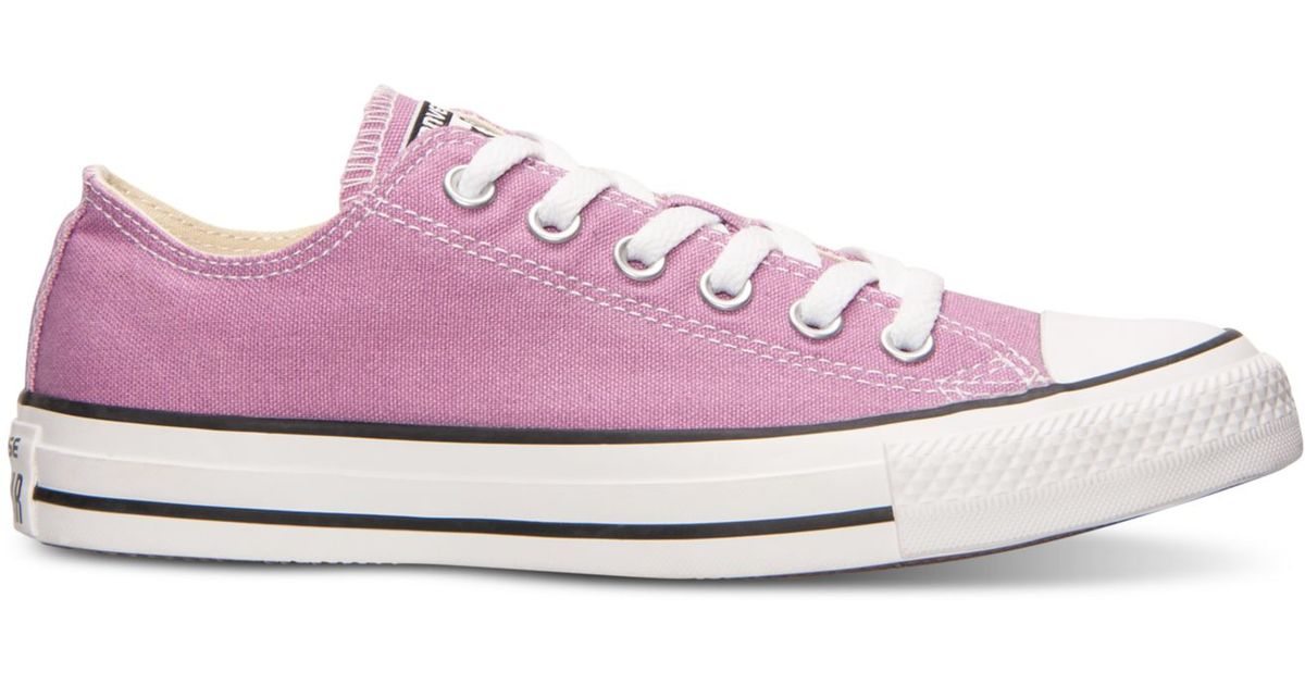 6ac607566a9a Lyst - Converse Women s Chuck Taylor Ox Casual Sneakers From Finish Line in  Purple