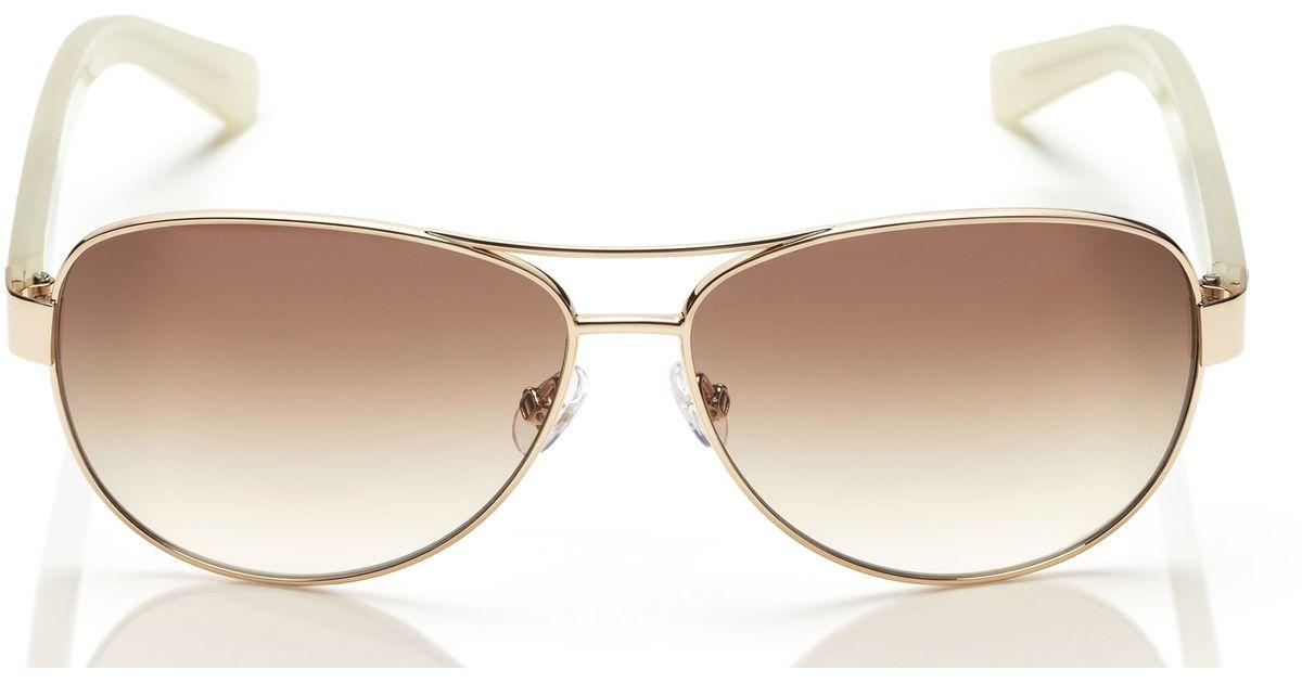 f39010459c2 Lyst - Kate Spade Dalia Sunglasses in Metallic