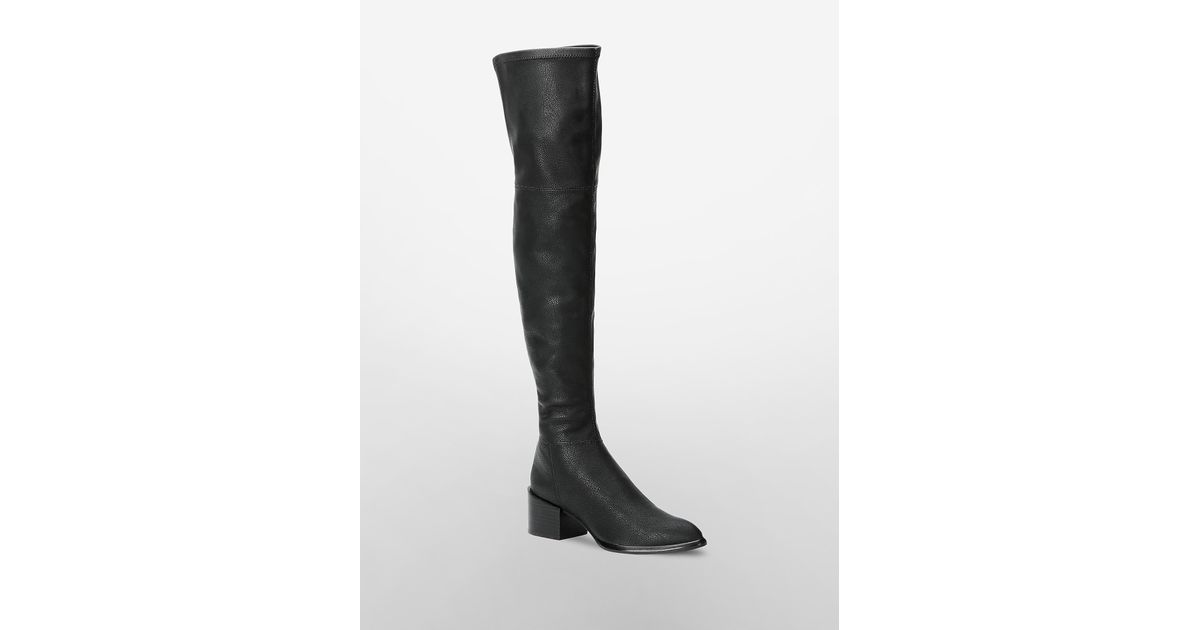 88a8b6c5a04 Lyst - Calvin Klein Jeans Nani Over The Knee Boot in Black