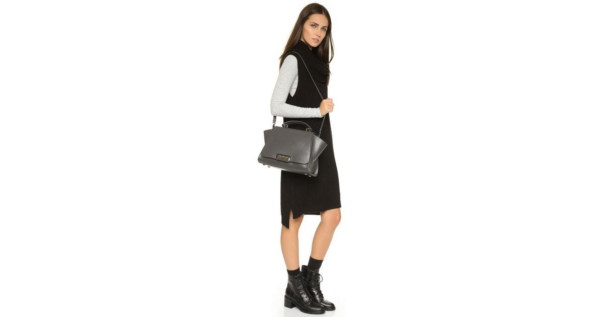 19b1b99279c70e Zac Zac Posen Eartha Iconic Soft Top Handle Bag - Charcoal in Gray - Lyst