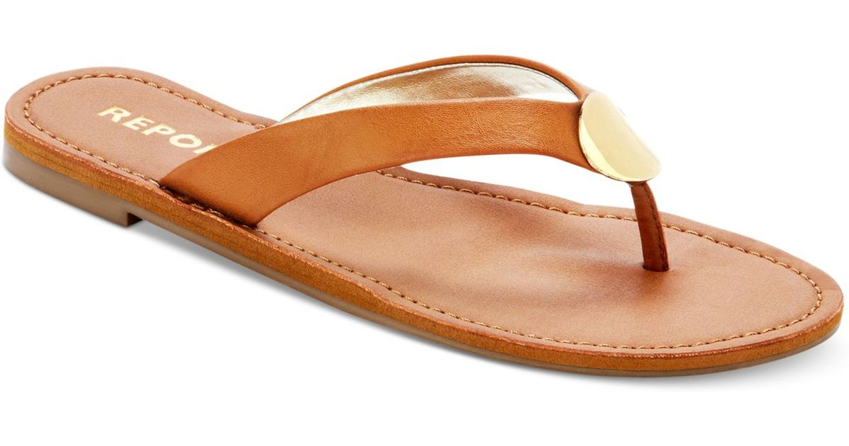 c17e9507e1aeb Lyst - Report Shields Flat Thong Sandals in Brown