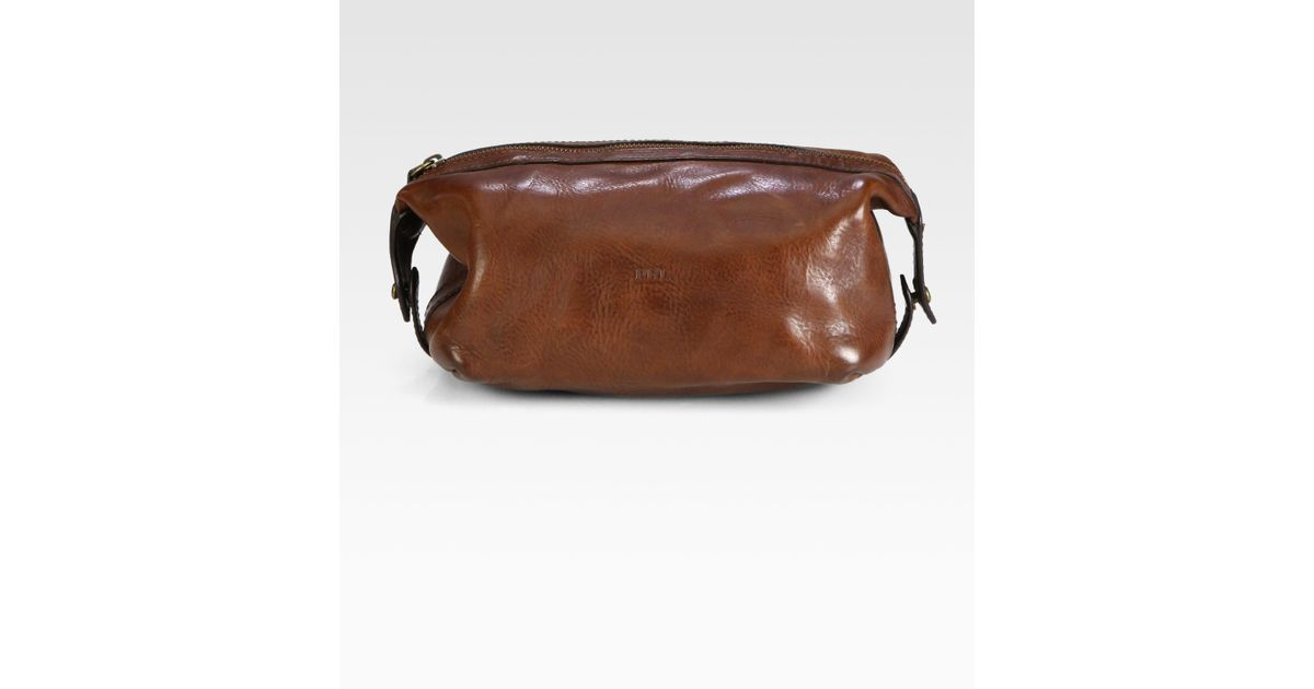 dc7037bc0b73 Lyst - Polo Ralph Lauren Leather Shaving Kit in Brown for Men